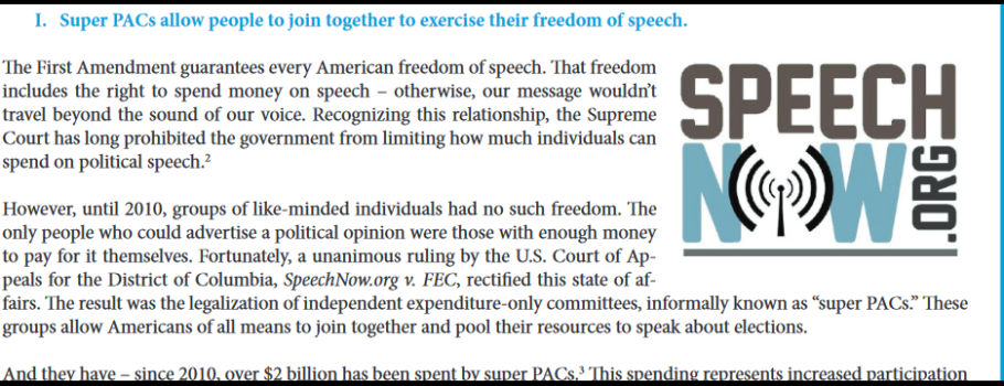Super PACs: Expanding Freedom of Speech
