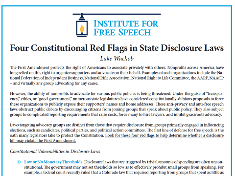 four constitutional red flags in state disclosure laws | institute